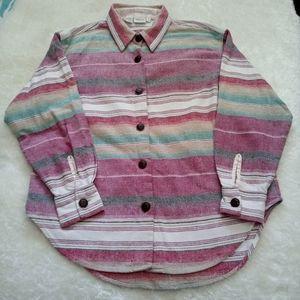 Vintage Benetton striped shirt size small